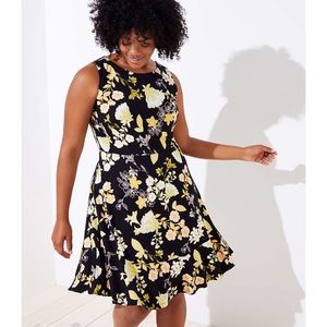 Floral sleeveless Fit and flare  dress